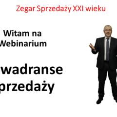 """Zapraszam nawebinar """"3 kwadranse sprzedaży"""""""